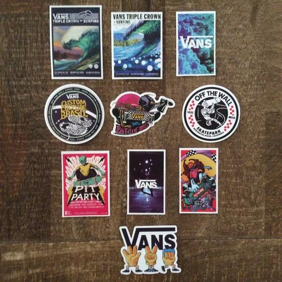 Vans Original Unique Sticker Lot Bundle Of 10 NEW